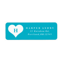 Heart monogram | Return address label