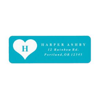 Heart monogram | Return address label