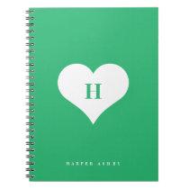 Heart Monogram   Spiral bound notebook