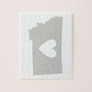 Heart Montana state silhouette Puzzles