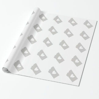 Heart Montana state silhouette Gift Wrap Paper