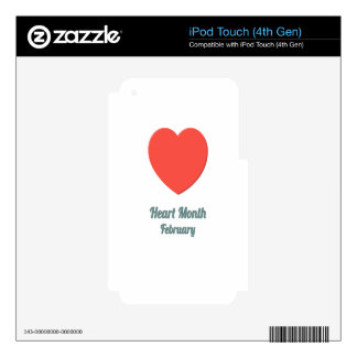 Heart Month - Appreciation Day Decals For iPod Touch 4G
