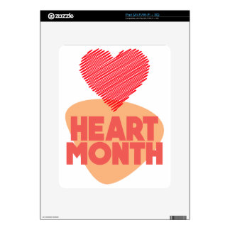 Heart Month - Appreciation Day Skins For iPad
