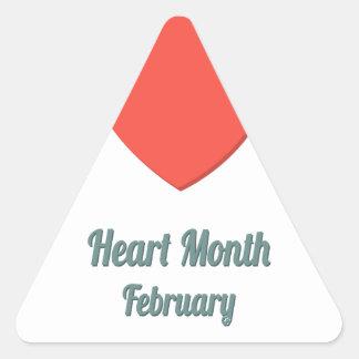 Heart Month - Appreciation Day Triangle Sticker