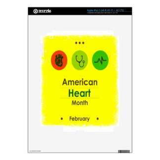 Heart Month February - Appreciation Day iPad 3 Decals
