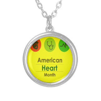 Heart Month February - Appreciation Day Silver Plated Necklace