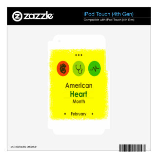 Heart Month February - Appreciation Day Skin For iPod Touch 4G