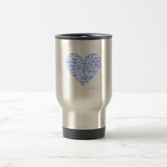 Heart Mosaic Travel Cup (profits go to Haiti)