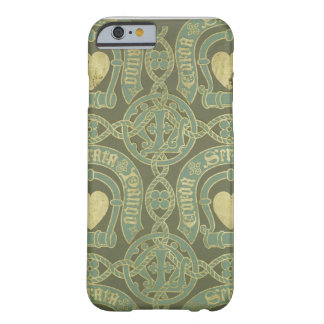 Heart motif ecclesiastical wallpaper design barely there iPhone 6 case