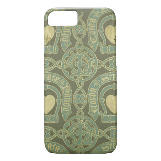 Heart motif ecclesiastical wallpaper design iPhone 8/7 case