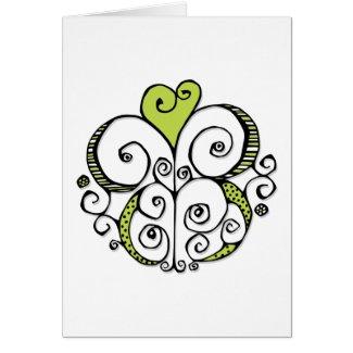 Heart Motif green Card