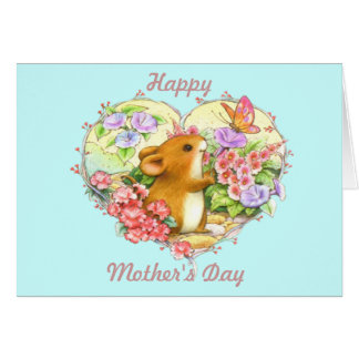 Heart Mouse Mother's Day Card (Customizable)