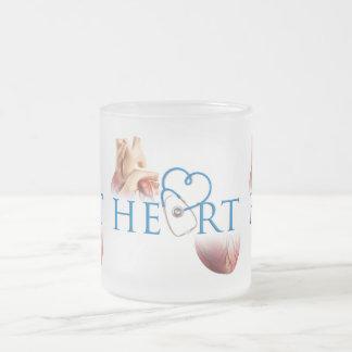 Heart Mugging Frosted Glass Coffee Mug
