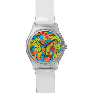 heart multicolor St Valentine shows Watch
