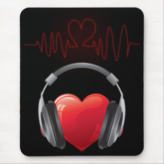 Heart Music Cardio Pulse Sound Wave Mouse Pad