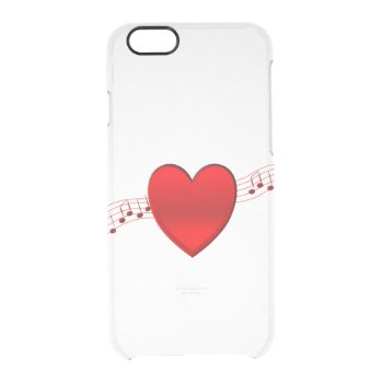 Heart Music Clear iPhone 6/6S Case