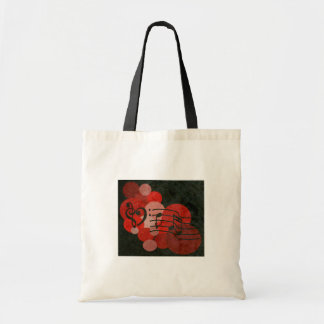 heart music clefs and red polka dot bag