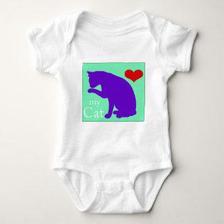 Heart My Cat #2 Baby Bodysuit