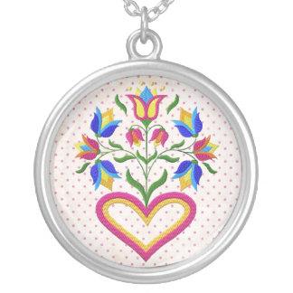 Heart n flowers custom necklace