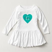 Heart Name Initial Monogram Dress