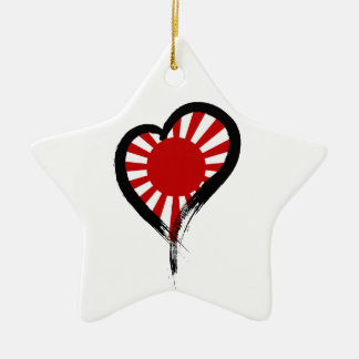 Heart Nation 05 Double-Sided Star Ceramic Christmas Ornament