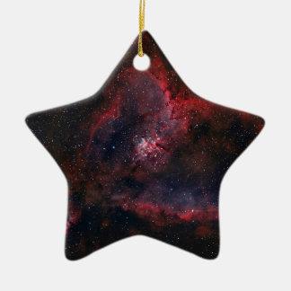 Heart Nebula Ceramic Ornament