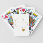 Heart Necklace Bicycle Playing Cards