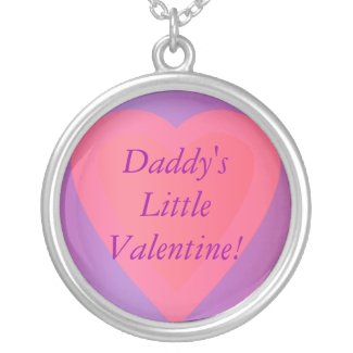 Heart Necklace Daddy's Little Valentine! necklace