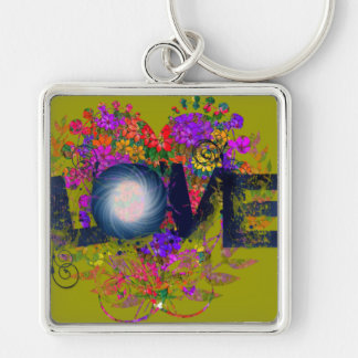 Heart Nestled Love Key Chain