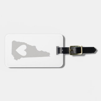 Heart New Hampshire state silhouette Luggage Tag