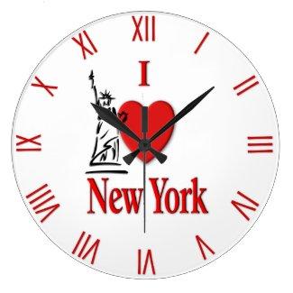 Heart New York Large Clock