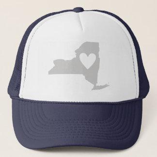 Heart New York state silhouette Trucker Hat