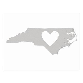 Heart North Carolina state silhouette Postcard