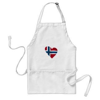 Heart Norwegian Flag Aprons