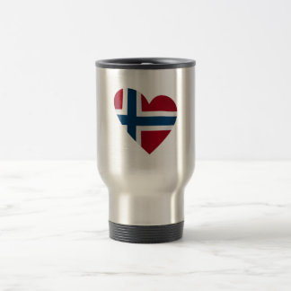 Heart Norwegian Flag Coffee Mugs