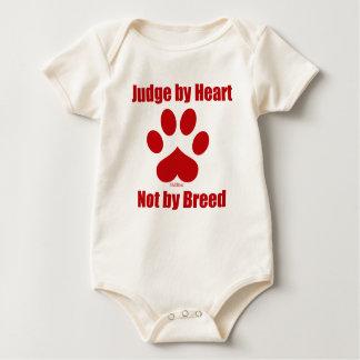 Heart Not Breed Baby Bodysuit