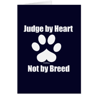 Heart Not Breed - Navy Card