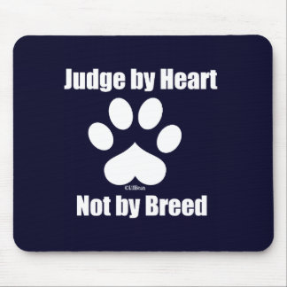 Heart Not Breed - Navy Mouse Pad