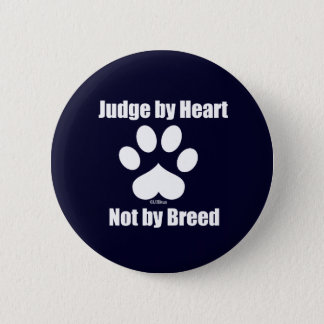 Heart Not Breed - Navy Pinback Button