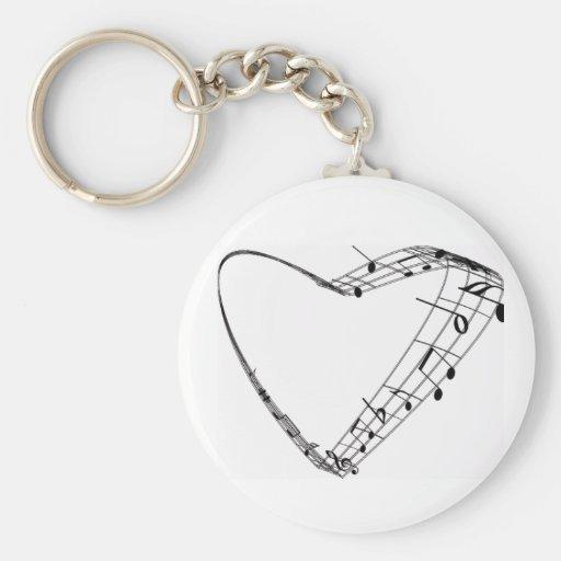 Heart Notes keychain