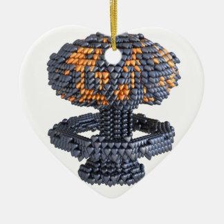Heart Nuke Ceramic Ornament