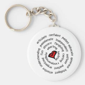 heart nurse copy basic round button keychain