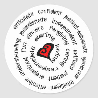 heart nurse copy classic round sticker