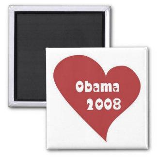 heart_Obama-2008 Imán Cuadrado