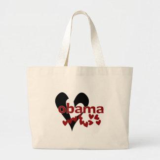 Heart Obama Large Tote Bag