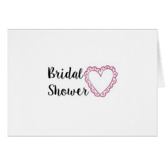 Heart of a Bridal Shower Invitations