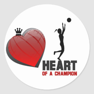 Heart of a Champion Girls Basketball Stickers