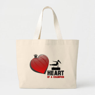 Heart of a Champion Gymnastics Canvas Bags