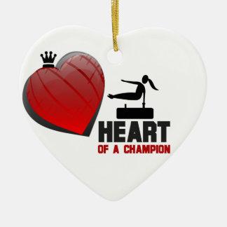 Heart of a Champion Gymnastics Christmas Tree Ornament