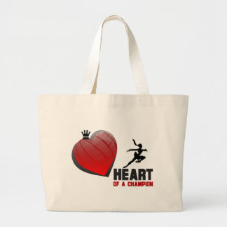 Heart of a Champion Ice Skating Large Tote Bag
